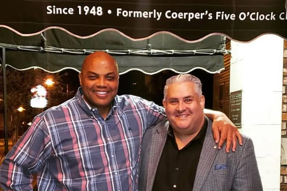 Charles Barkley at Five Oclock Steakhouse
