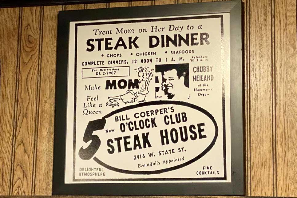 Milwaukee Steakhouse 75th Anniversary